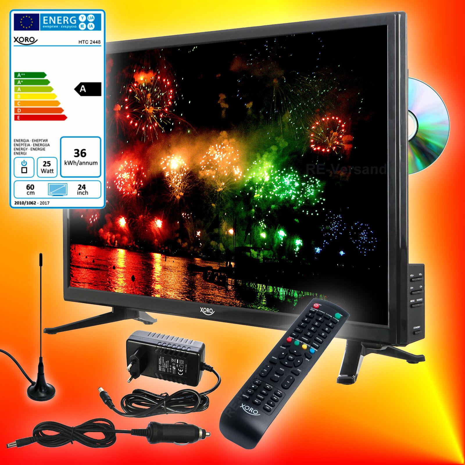 Xoro HTC 2448 60cm TV DVD-Player DVB-T2/S2/C 12V 230V Fernseher CI USB-PVR EEKA