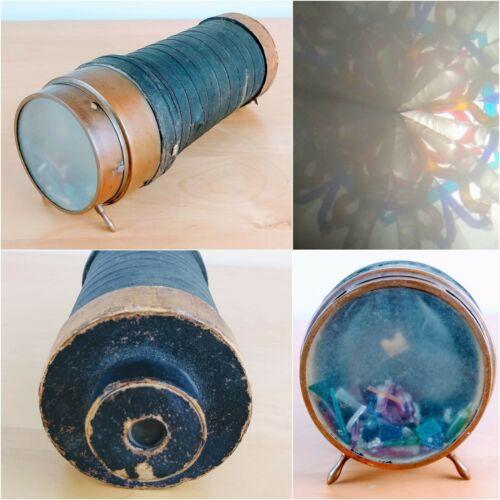 "Antique 1873 Charles Bush Parlor Kaleidoscope 10.5"" Original Liquid Filled Glass"