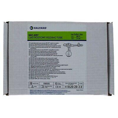 MIC-Key 0120-20-2.0, Low Profile Gastrostomy Feeding Tube Kit 20 Fr. 2.0 -