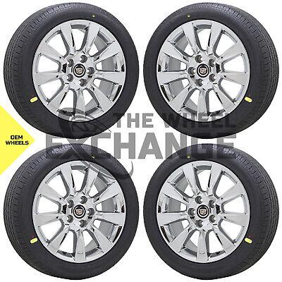 "18"" Cadillac XLR CTS Chrome wheels rims tires Factory OEM GM set 4 4657"