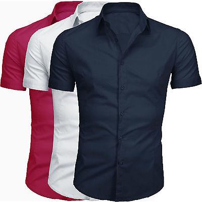 Camicia Uomo Maniche Corte Cotone Slim Fit GIROGAMA 2200MM