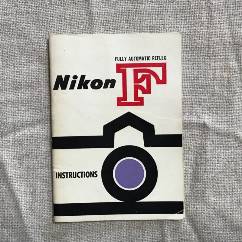 Nikon F Instruction Book 1st Edition