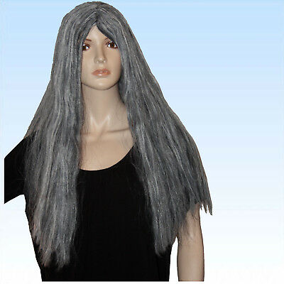 u für Hexe Greisin alte Frau lange Perücke Haare (Alte Frau Perücke)