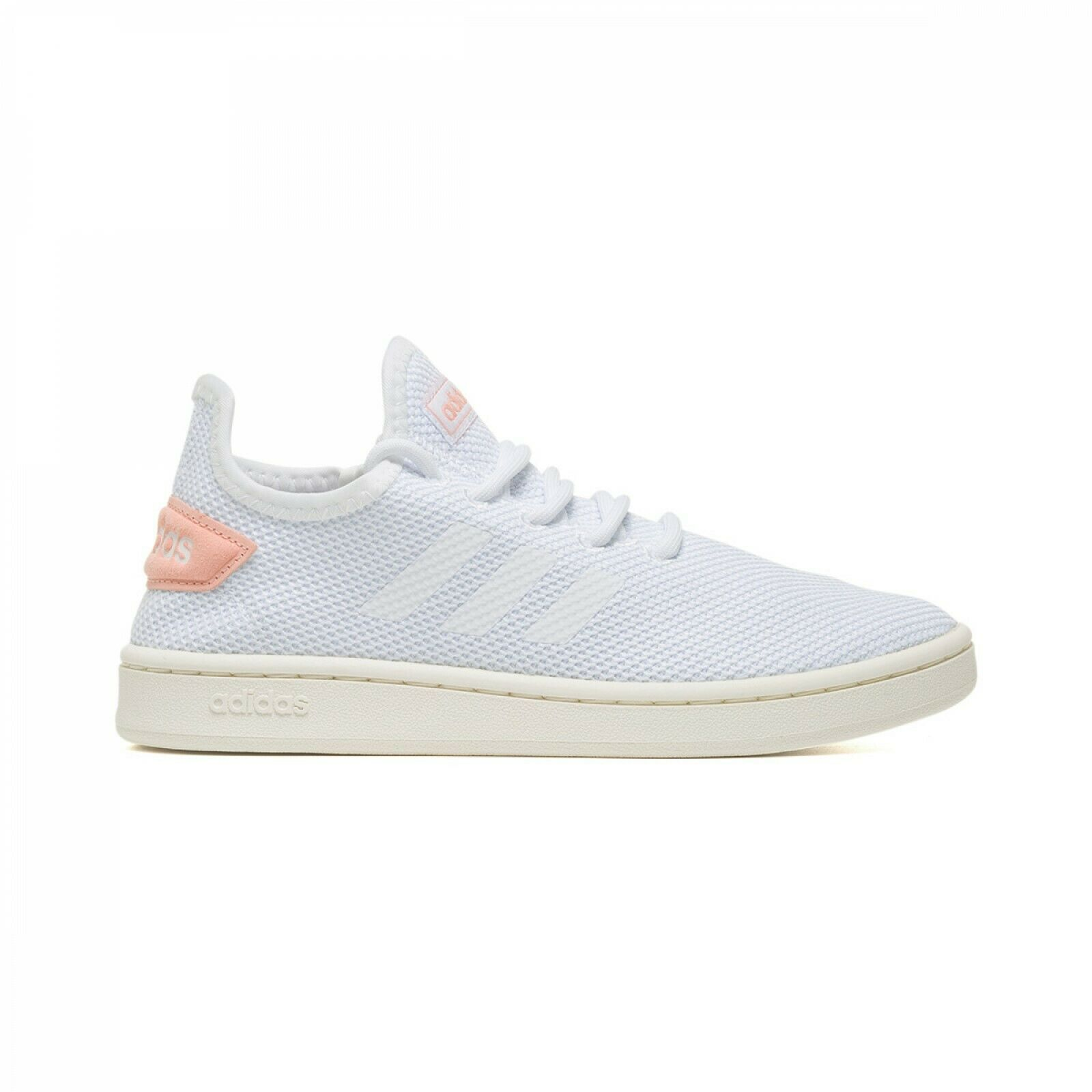 SCARPE ADIDAS DONNA COURT ADAPT F36476 WHITE BIANCO ROSA PINK TENNIS SPORTIVE