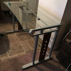 "Glass Computer Desk 48"" X 30"""