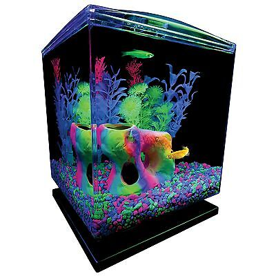 Tetra GloFish Mini Aquarium Fish Tank With LED Light Kit 1.5-Gallon New