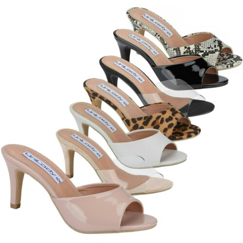 Women's Open Toe Sandal Slip On Shoes 3 Inch Kitten Heel  More Color 2020 Style