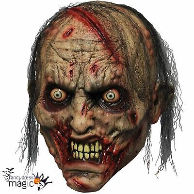 Full Head Zombie Walking Halloween Dead Horror Costume Mask Ghoulish Productions