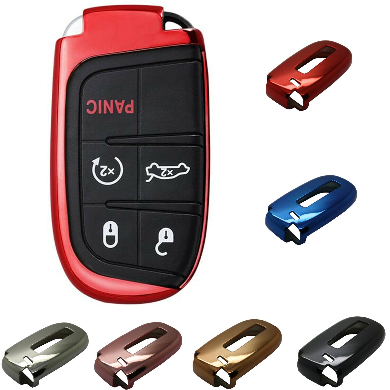 Jeep Grand Cherokee WK2 Kl SRT 8 Car Key Protective Case Cover