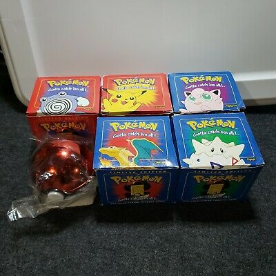 23k Gold Plated Pokemon cards in Pokeball - 1999 Burger King Limted Edition set
