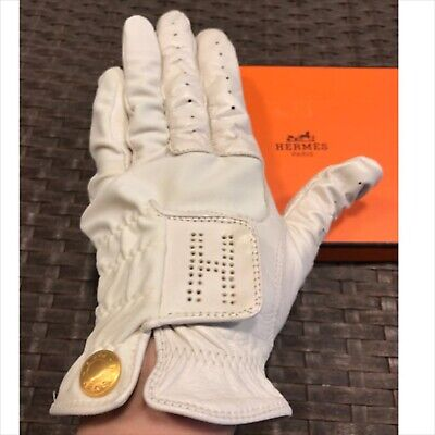 Baby Goat Leather - Hermes baby goat Leather golf glove size 8 Good Condition