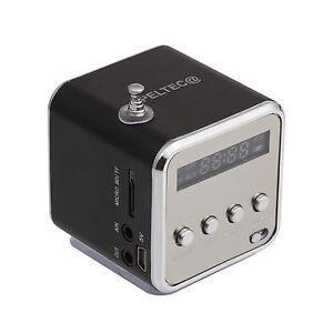 Mini Lautsprecher FM Radio USB TF-Slot Kartenleser Portable Musik Würfel Station