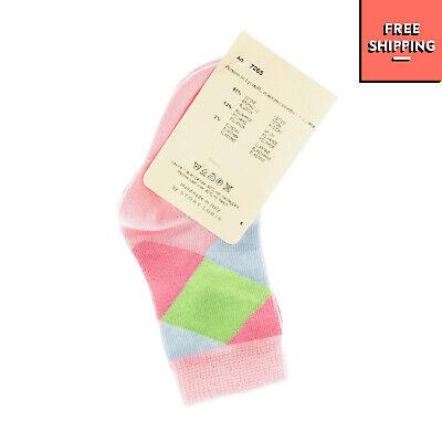 STORY LORIS Everyday Socks Size 1-2Y / 17-20 Argyle Pattern HANDMADE in Italy