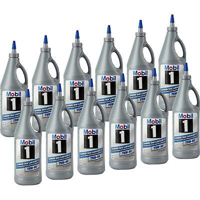 Mobil1 104361 Full Synthetic Gear Lubricant, 75W-90, 12 Quarts
