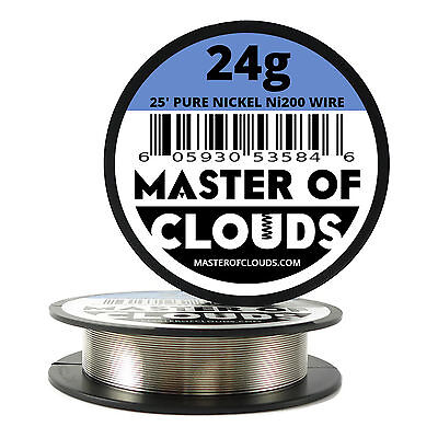 Ni200 - 25 Ft 24 Gauge Awg Pure Nickel 200 Non Resistance Wire 0.51mm 24g 25