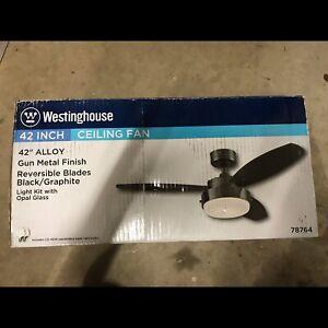 New Westinghouse Alloy 42-inch Gun Metal Ceiling Fan