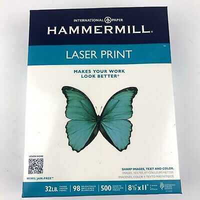 Hammermill Laser Print Paper Letter White 32lb 98-bright 500 Sheets