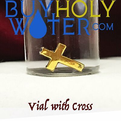 Holy Water 10mL Vial Blessed By Pope With Cross Hand Made Numbered Limited - $27.88