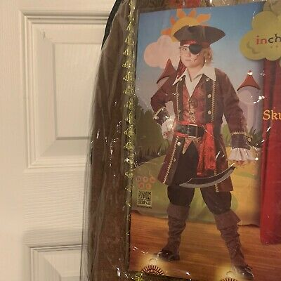 Kids Pirate Boot Covers (NWOT Pirate Costume Child 12 Jacket Vest Pants Dickie Sash Belt Hat Boot)