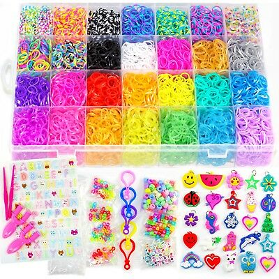11500+ Rainbow Loom Bands Mega Refill Kit - Premium Rubber Band Bracelet Looming