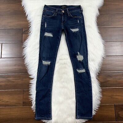 AGoldE A Gold E Women's Size 24 Chloe Distressed Low Rise Skinny Jeans Stretch