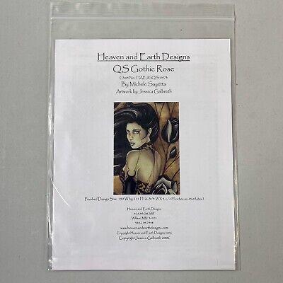 Heaven Earth Designs HAED Cross Stitch Chart Sayetta QS Gothic Rose Galbreth Designer Rose Cross