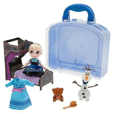 Disney Frozen Elsa Mini Doll Playset & Accessories Animators Set & Carry...