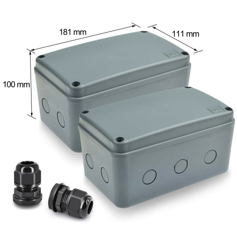 Plastic Junction Box Waterproof Electronic Project Enclosure Case 181×111×100mm