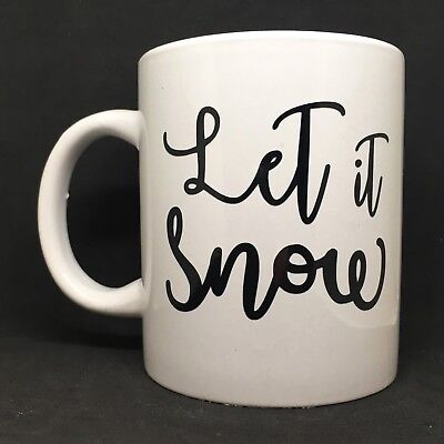 Let It Snow Vinyl Decal Sticker - Great for DIY Christmas Gift - Ideal for Mugs (Diy Christmas Mugs)