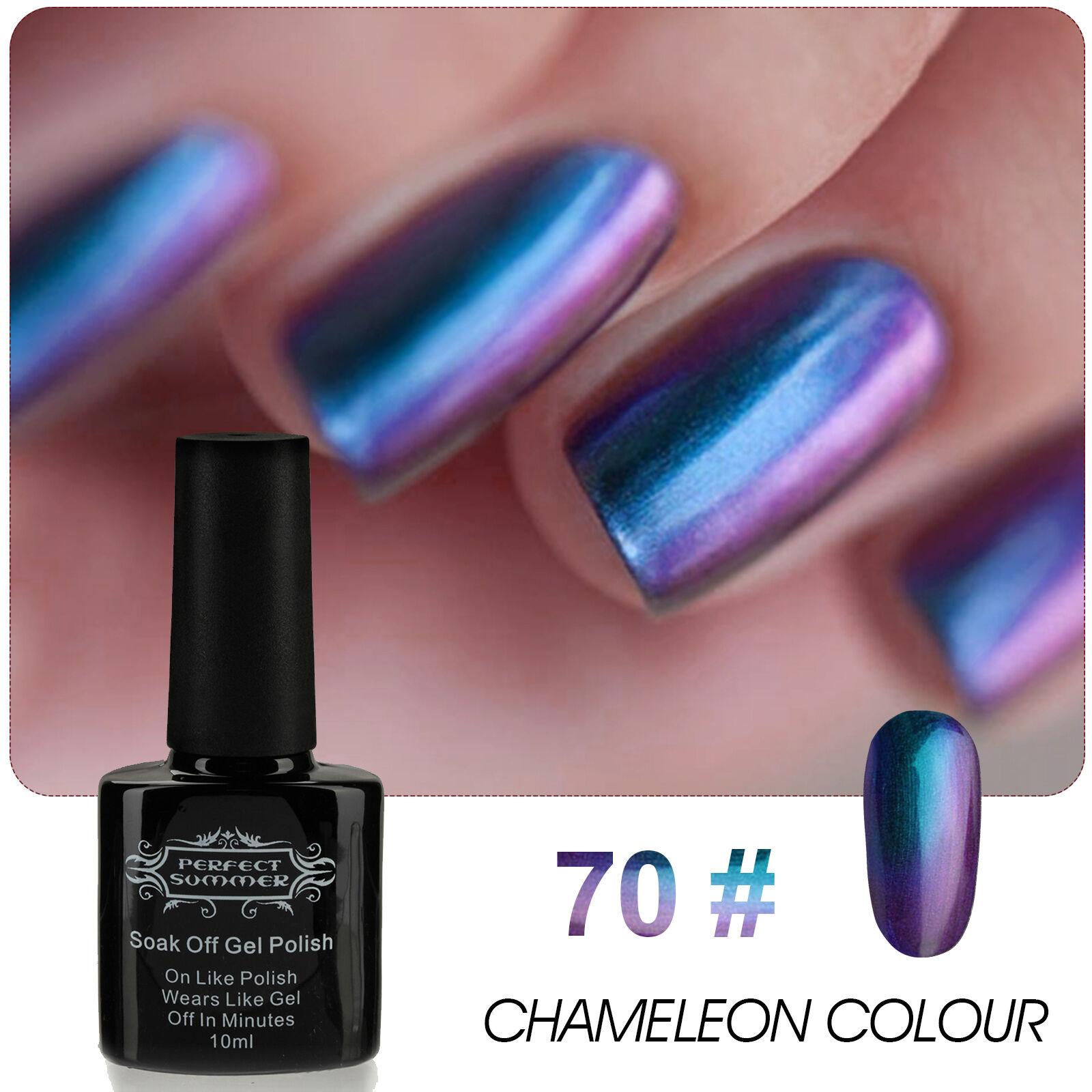 Nail art color violet - Chameleon Color Change Uv Gel Polish Nail Art Metallic Color Long Last 10ml 70