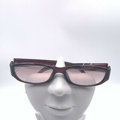 Vintage Gucci GG2499/S Burgundy Oval Sunglasses Italy FRAMES ONLY