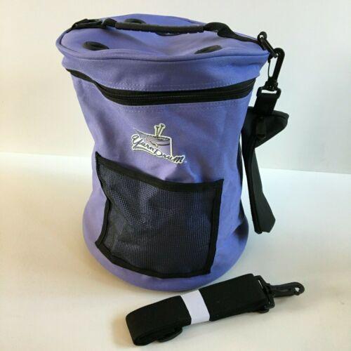 Art Bin Yarn Drum LARGE Sz Periwinkle Tote Knit Crochet Storage + Accessory Bag