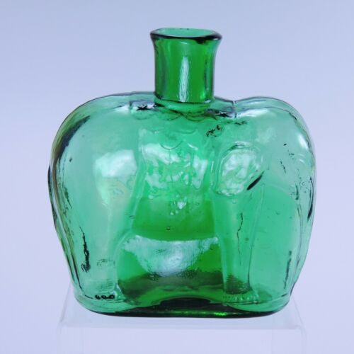 Early version Clevenger Brothers Elephant bottle South Jersey glass in book