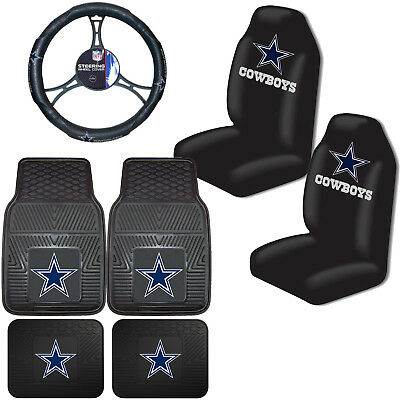 NFL Dallas Cowboys Car Truck Seat Covers Floor Mats & Steering Wheel Cover