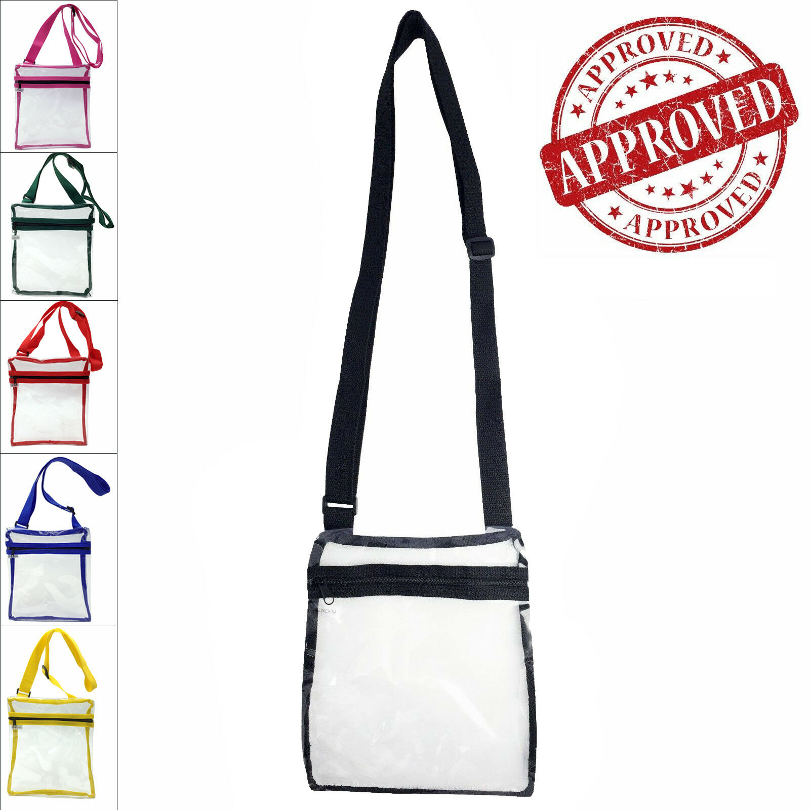 Transparent Stylish PVC Purse Clear Handbag Tote Shoulder Cr