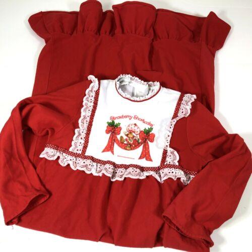 VTG  Strawberry Shortcake Nightgown RARE Pajamas Sears sz 10-12 980s Sleepwear