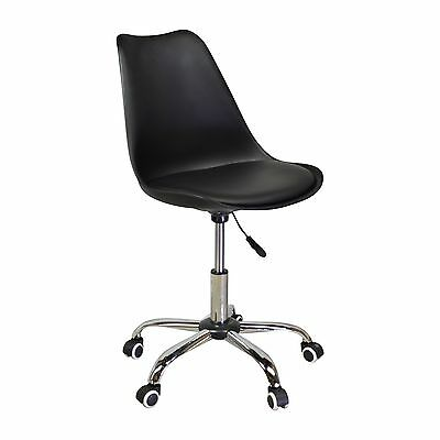 Charles Jacobs Style Office Chair In Black Midcentury Modern Adjustable Seat