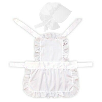 Kids White Victorian Maid Full Length Cooking Fancy Dress Up Costume Apron & Hat](Kids Victorian Dress Up)