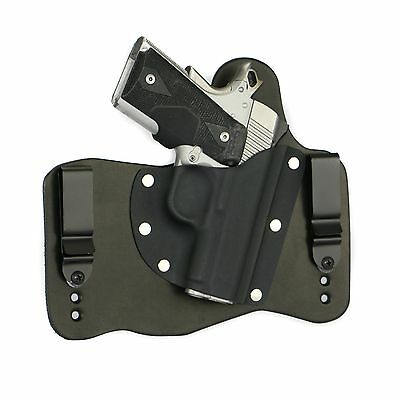 FoxX Leather & Kydex IWB Holster Kimber 1911 Pro Carry II, Pro TLE II Black (Iwb Holster For Kimber Pro Carry Ii)