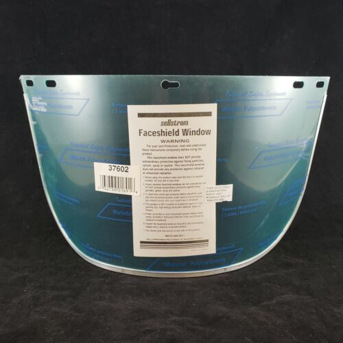 """Sellstrom Replacement Clear Faceshield Aluminum Bound Polycarbonate 8"""" x 15½"""""""