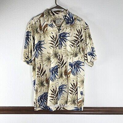 c8265b1430 Ron Jon Mens Shirt Size L Tropical Hawaiian Beige