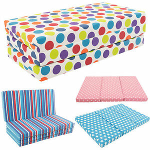 Gilda Kids Folding Sofa Bed Futon Guest Z Bed Chair Folding Sofabed Childrens Ebay