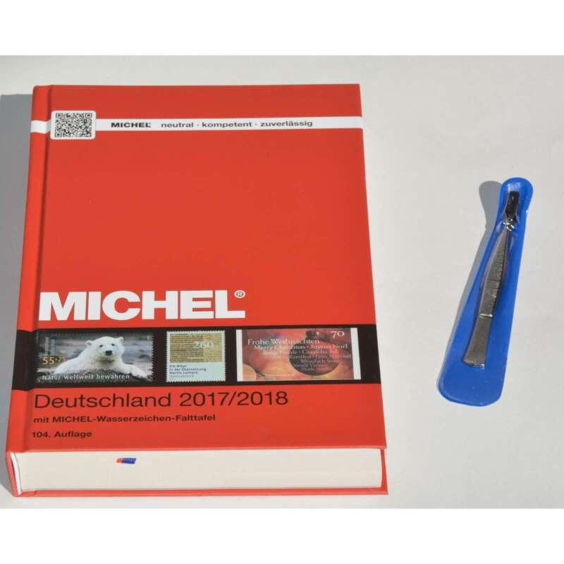 MICHEL Deutschland Katalog 2017/2018 plus Gratis Briefmarken Pinzette Schaufel