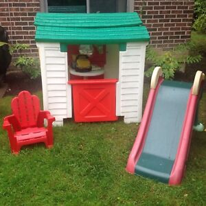 Little Tikes Playhouse and slide and chair