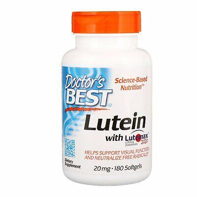 Doctor's Best Lutein featuring Lutemax, Non-GMO, Gluten Free