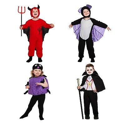 Halloween Costume Fancy Dress Outfit Devil Bat Spider Girl Vampire Boy Toddler  (Bat Boy Kostüme)