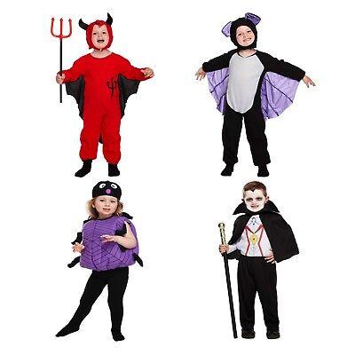 tfit Devil Fledermaus Spinne Mädchen Vampir Junge Kleinkinder (Kleines Vampir-mädchen Halloween-kostüme)