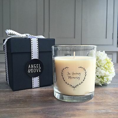 'In Loving Memory' Funeral Remembrance Candle - Sympathy Gift or Memory Table