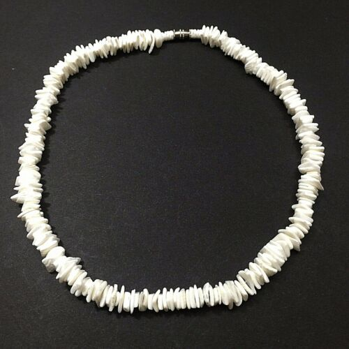 "Puka Chip Shell 16"" Choker Surfer Necklace Handmade Philippines-Free Shipping"