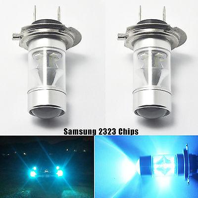 2x Ice Blue Genuine Samsung 2323 SMD Car LED H7 Light Bulb 60W Fog/Driving DRL